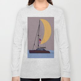 Boat in the middle of the night Long Sleeve T-shirt
