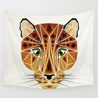 leopard Wall Tapestries featuring leopard by Manoou