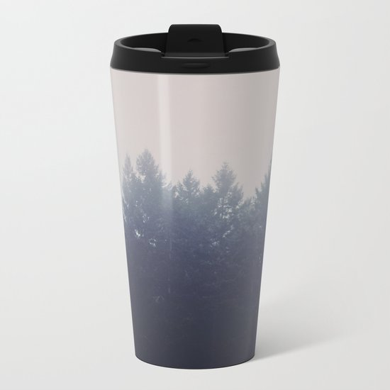 Forest in the Haze Metal Travel Mug