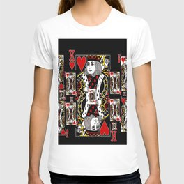 BLACK KING OF HEARTS CASINO PLAYING CARDS FROM T-shirt