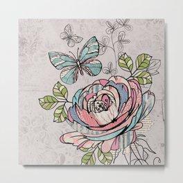 Paper Flowers #2 Metal Print