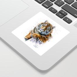 Tiger watercolor Sticker