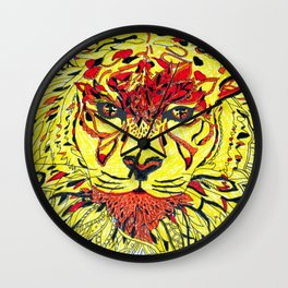 Tigereye Wall Clock