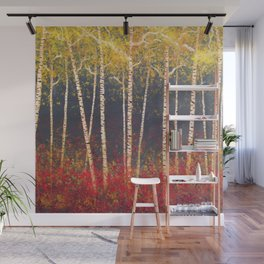Birch Trees in the Fall Wall Mural