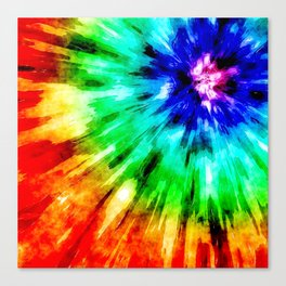 Tie Dye Meets Watercolor Canvas Print