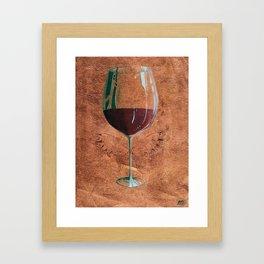 Mystical Bordeaux Fairy Framed Art Print
