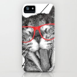 Meatloaf the cat iPhone Case
