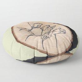 Devil Ray Wood Slice Floor Pillow