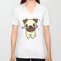 aurora V-neck T-shirts featuring Aurora by DogRocketsCartoons