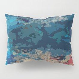 Abstraction (Acrylic Paint & Blue Glass Bottles) Pillow Sham