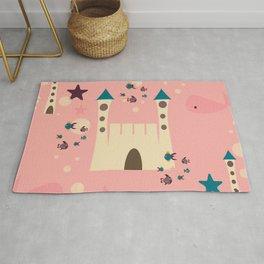sand castle pink Rug