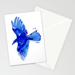 Blue bird wings Stationery Cards