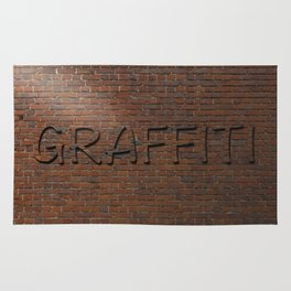 Anti Graffiti 3D Brick Wall Rug