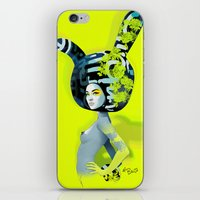 bunny iPhone & iPod Skins featuring bunny by el brujo