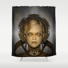 Steampunk female machine Shower Curtain