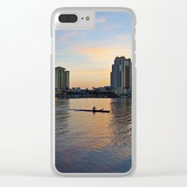 Tampa Sunrise Clear iPhone Case