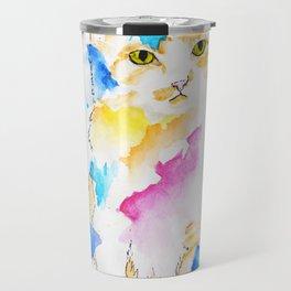 Rainbow Dream Kitten Travel Mug