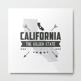 California State Badge Metal Print