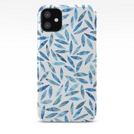 Indigo Summer Botanical Pattern iPhone Case