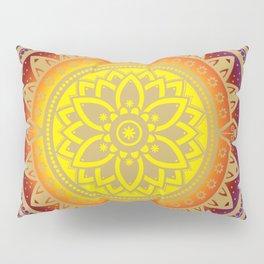 'Infinite Light' Mandala Gold Blue Purple Red Orange Yellow Pillow Sham