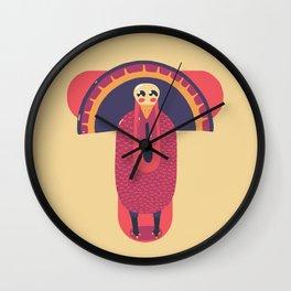 T for Turkey Wall Clock