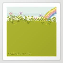 Sunny Day. Clovers. Art Print