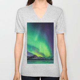 Northern Lights in Iceland Unisex V-Neck