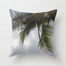 Palm Tree, Cayman Islands Throw Pillow