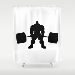 Heavy weight lifting beast Shower Curtain
