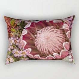 Macro Protea Rectangular Pillow
