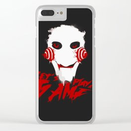Jigsaw:Lets play the game Clear iPhone Case
