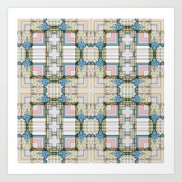 Multi Tiled Pastel Pattern Abstract Art Print