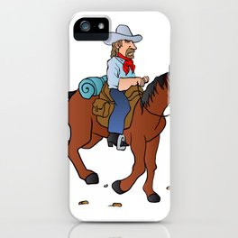 Cowboy on the horse iPhone Case