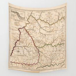 Map of Kentucky (1793) Wall Tapestry