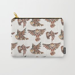 Owls in Flight – Brown Palette Carry-All Pouch