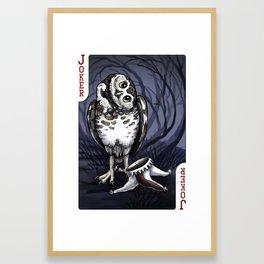 Owl Deck: Red Joker Framed Art Print