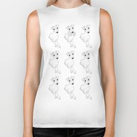 puppies Biker Tanks featuring whippet puppies  by Emese M