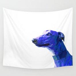 Greyhound. Blue dog Pop Art portrait. Hunting dog. Wall Tapestry