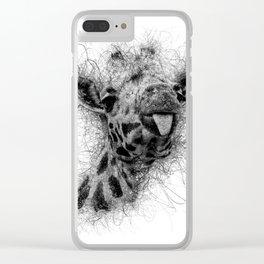 Giraffe line Clear iPhone Case