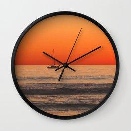 Indian Summer Sunset by Aloha Kea Photography Wall Clock