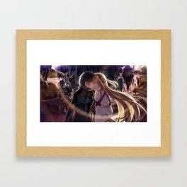 Kirito and Asuna Framed Art Print