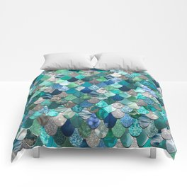 Mermaid Pattern, Sea,Teal, Mint, Aqua, Blue Comforters