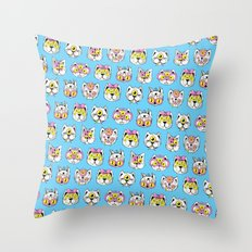Extraterrestrial Cats Throw Pillow