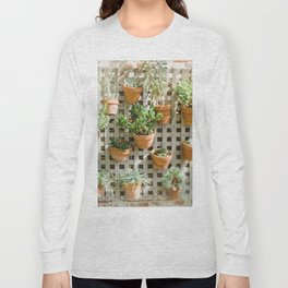 Wall of Succulent Plants Long Sleeve T-shirt