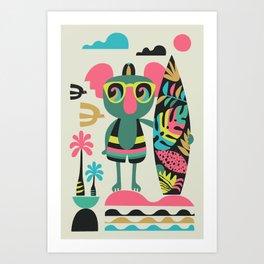 Koala surfer Art Print