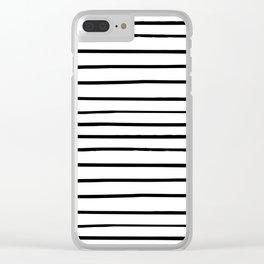 _ S T R I P E S Clear iPhone Case