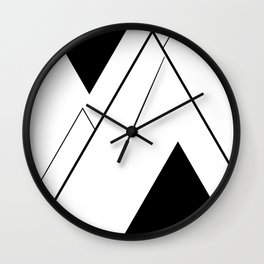 Minimal Mountains Wall Clock