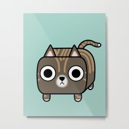 Cat Loaf - Brown Tabby Kitty Metal Print