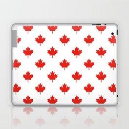 Large Tiled Canadian Maple Leaf Pattern Laptop & iPad Skin