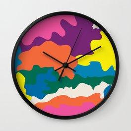 A Wiggle & A Wave Away Wall Clock